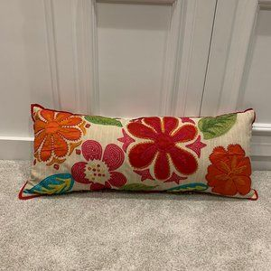 Pier 1 Embroidered Decorative Accent Pillow